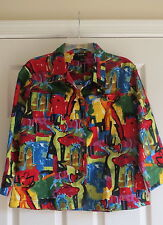Kaktus Large ladies multi color jacket stretch short casual spring womens blazer