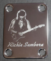 GUITAR NECK PLATE Custom Engraved Etched - Fits Fender - RICHIE SAMBORA
