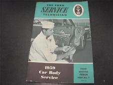 1959 Ford Mechanic Car Body Service Handbook Forum Manual