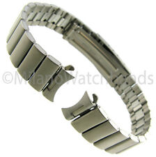 14mm Milano All Titanium Curved & Straight Deployment Buckle Watch Band 30 6014