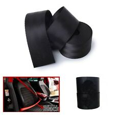 Universal Replace Front 3 Point Safety Retractable Van Car Seat Lap Belt Black