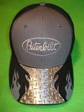 PETERBILT HAT:        DIAMOND PLATE VISOR TRUCKERS CAP         * FREE SHIPPING*