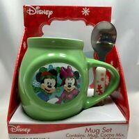 Disney Mickey and Minnie Mug and Spoon Set - NEW