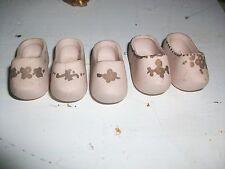 (5 count) pink dutch clog porcelain miniature shoes
