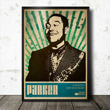 CHARLIE PARKER Jazz Art Poster Musique Note bleue Miles Davis Sun Ra John Coltrane
