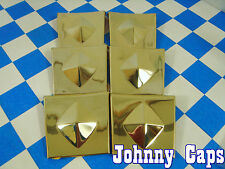 Baccarat Wheels Allure Gold Insert #N/A Wheel Center Cap Gold Inserts (6)