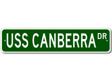 USS CANBERRA CA 70 Ship Navy Sailor Metal Street Sign - Aluminum