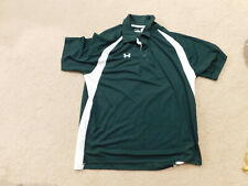 Under Armour Mens Heat Gear Green / White Short Sleeve Shirt Size Large