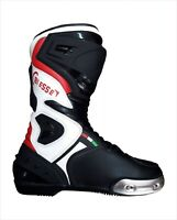 Stivali Per Moto Racing in Pelle 39 40 41 42 43 44 45 46