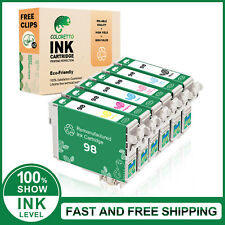 6PK Black&Color For 098 98 XL Ink Cartridge For Printer Artisan 730 810 700 837