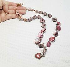 Pink MOP Nugget Pendant Necklace