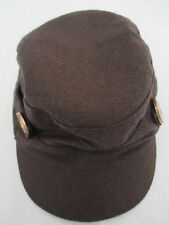 Target Brown Cadet Military Stretch Flex One Size Cap Hat Great Condition