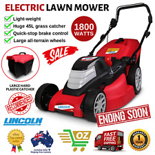 "Lincoln LE17L 1800W 17"" Electric Lawn Mower Light Weight Portable Push Lawnmower"