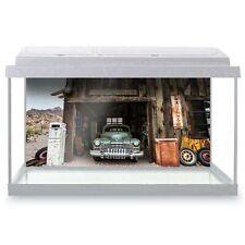 Fish Tank Background 90x45cm - Vintage Car American Garage USA  #24385