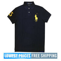 Polo Ralph Lauren NWT Men's Big Pony Gold on Navy Polo Shirt MSRP $80