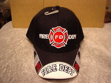 FIRE DEPARTMENT BASEBALL CAP #4 ( BLACK )