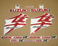 GSX 1300R Hayabusa 2008-2009 complete decals sticker graphics kit set chrome red