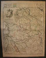 grenzkolorierte Kupferstichkarte Homann/Hubener La Westphalie 1742 Westfalen sf