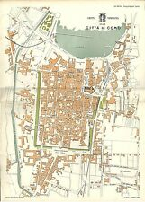 Carta geografica antica COMO Pianta della città 1896 Old antique map
