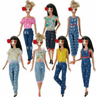 For 11 inch Doll Gifts Fashion Princess Party Tops Clothes + Pants O9D1