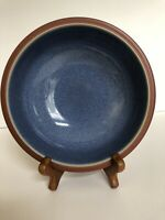 """Denby Langley JUICE Blue  """"Berry"""" 7"""" Cereal Soup Bowl Terracotta Stoneware"""