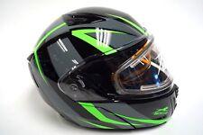 Arctic Cat Green Modular Snowmobile Helmet w/ Electric Shield S M L XL 2XL