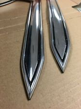 "Vintage type 1 1/4 "" (1.25"")  Chrome body side molding trim  pointed ends"