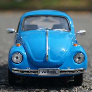 WELLY 1:24 Alloy Static Car Model For Volkswagen Beetle Hard top (1950) Display