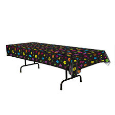 80's Totally Arcade PIXEL 1-up Video Game TABLE COVER Birthday Party Decoration