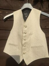 "Excellent Condt Boys 30"" Chest Piscador Cream And Gold Waistcoat"