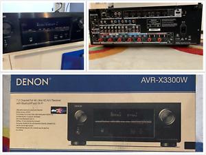 Denon AVR-X3300W 7.2 ch 4K Ultra HD A/V Receiver Bluetooth Wi-Fi Atmos DTS:X Amp