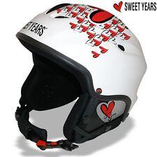 Casco da sci Snowboard bici Cuffie integrate Mp3 Taglia S Sweet Years Bianco