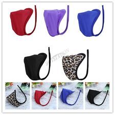 Men's Sexy Lingerie Pouch Bikini Briefs C-string Invisible Thong Underwear Panty