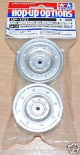 Tamiya 54737 Matte Plated Silver Dish Wheels (26mm Width, Offset +4) (CC01)