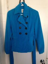 USED GREAT CONDITION TEAL BLUE OLD NAVY PEACOAT SIZE TEEN JUNIOR SMALL