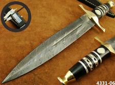 "14"" ALISTAR XL HANDMADE DAMASCUS STEEL DOUBLE EDGE HUNTING DAGGER KNIFE (4331-6"