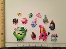 12 LgSm Shopkins Characters Fabric Applique Iron On Ons Lippy Lips Apple Blossom