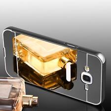 Schutz hülle Case Bumper Handy Tasche Hard Cover für Samsung Galaxy S7 Edge grau