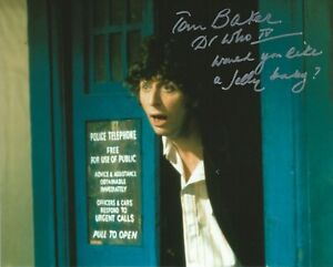Photo - Tom Baker in person signed autograph - Doctor Who - UNIQUE QUOTE! - J521