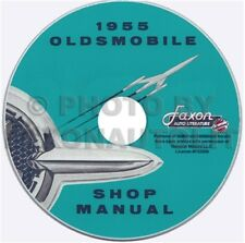 1955 Olds Shop Manual CD 55 88 and 98 Oldsmobile Repair Service Super