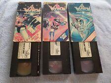 VOLTRON: CASTLE OF LIONS / PLANET ARUS / PLANET DOOM - (3 VHS Tapes)