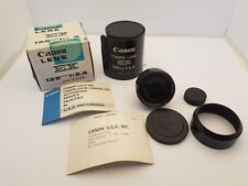 VINTAGE CANON LENS EX 125MM 1:3.5 WITH CASE AND THE ORIGINAL BOX