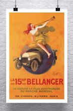 Bellanger 1921 Vintage Auto Advertising Poster Rolled Canvas Giclee 24x36 in.