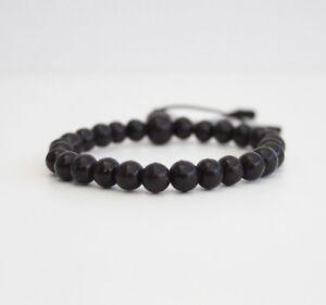 Bracelet Black Beads  Adjustable Healing Stone Chakra Peace Unisex Bracelet