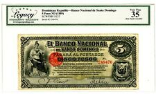 Dominican Rep ... P-S133 ... 5 Pesos ... ND(1889) ... *VF-XF*