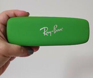 Ray-Ban Green Slim Hard Clamshell Gatto Sunglasses Case - Red Interior