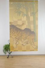 JAPANESE Noren Curtain TORA TIGER BAMBOO GOLD MADE IN JAPAN NEW