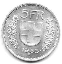 Suisse - 5 Francs Argent 1953 B