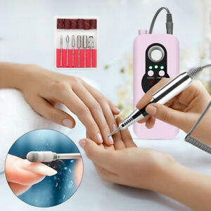 Professional Electric Nail Drill Machine 35000RPM Rechargeable Manicure File