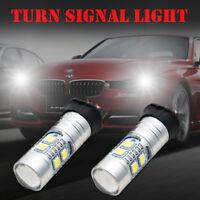 2x 10W LED Free Error CANBUS Indicator Turn Signal Light Bulb Globe 12V PW24W